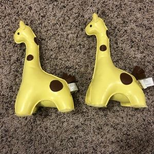 Pottery barn kids giraffe bookends